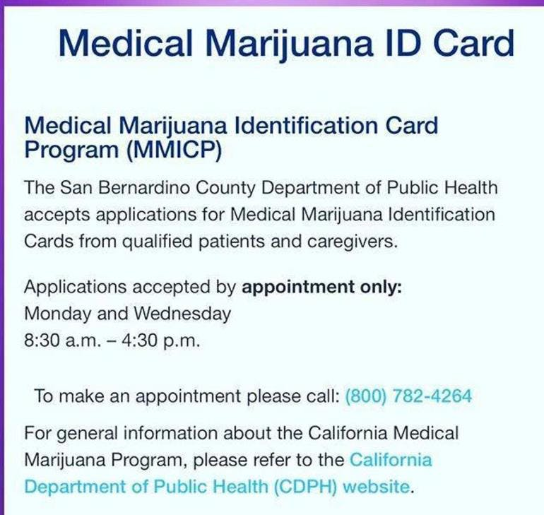 Medical Marijuana ID card
