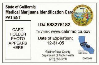 medical marijuana identification card
